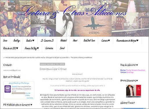 http://lecturayotrasadicciones.blogspot.com.es/2015/10/entrevista-cesar-colomer.html