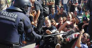 Desalojo Plaza de Cataluña 27 de mayo