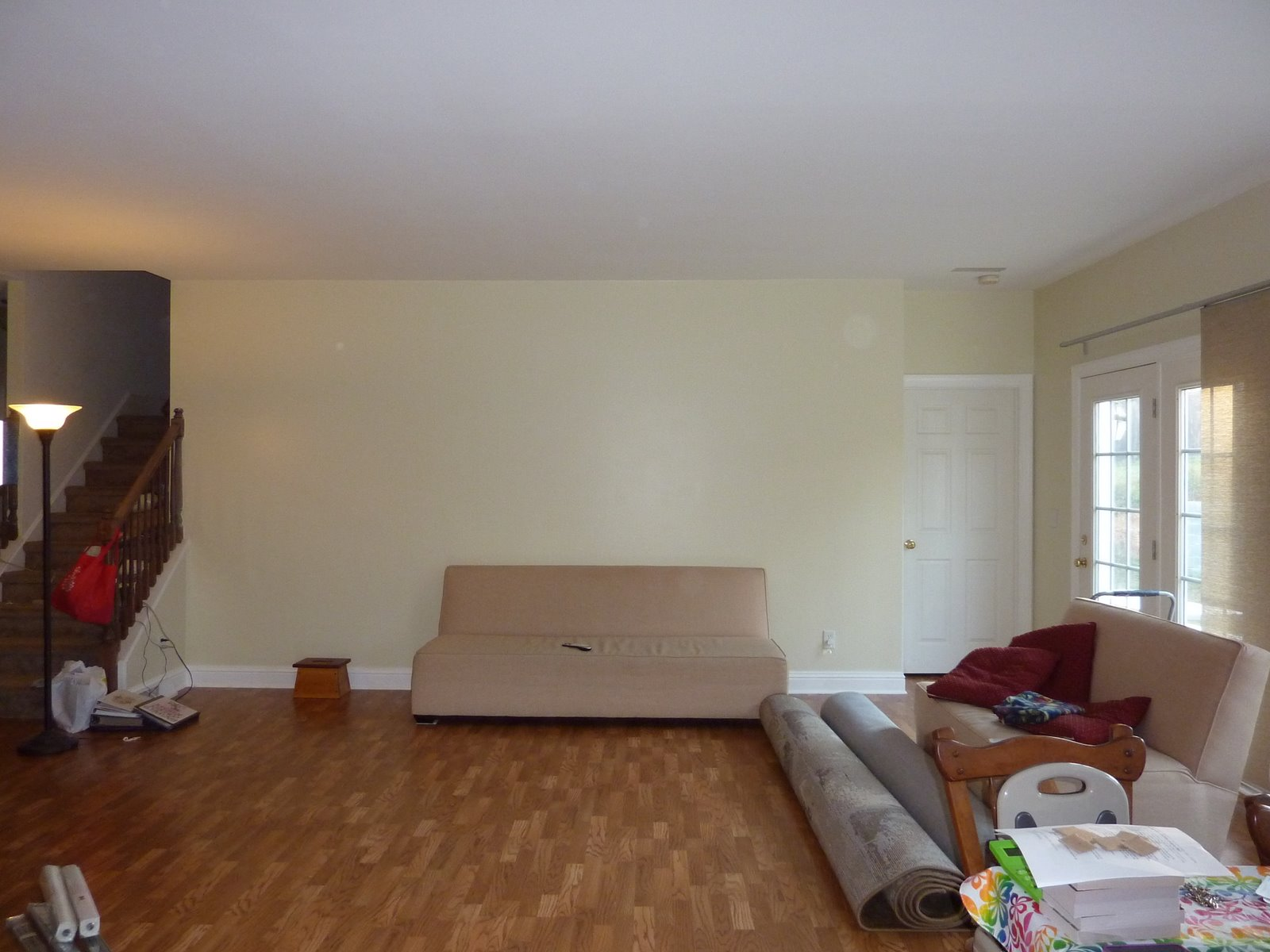 The Living Room BEFORE Look At That Big Bare Wall We Looked It For 2 Years But I Finally Figured Out What To Do With
