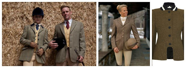 Equestrian fashion, tweed