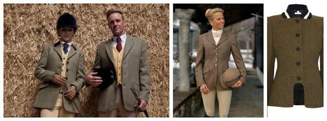 Equestrian fashion, tweed