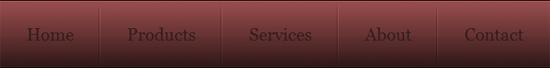 CSS UL LI – Horizontal CSS Menu