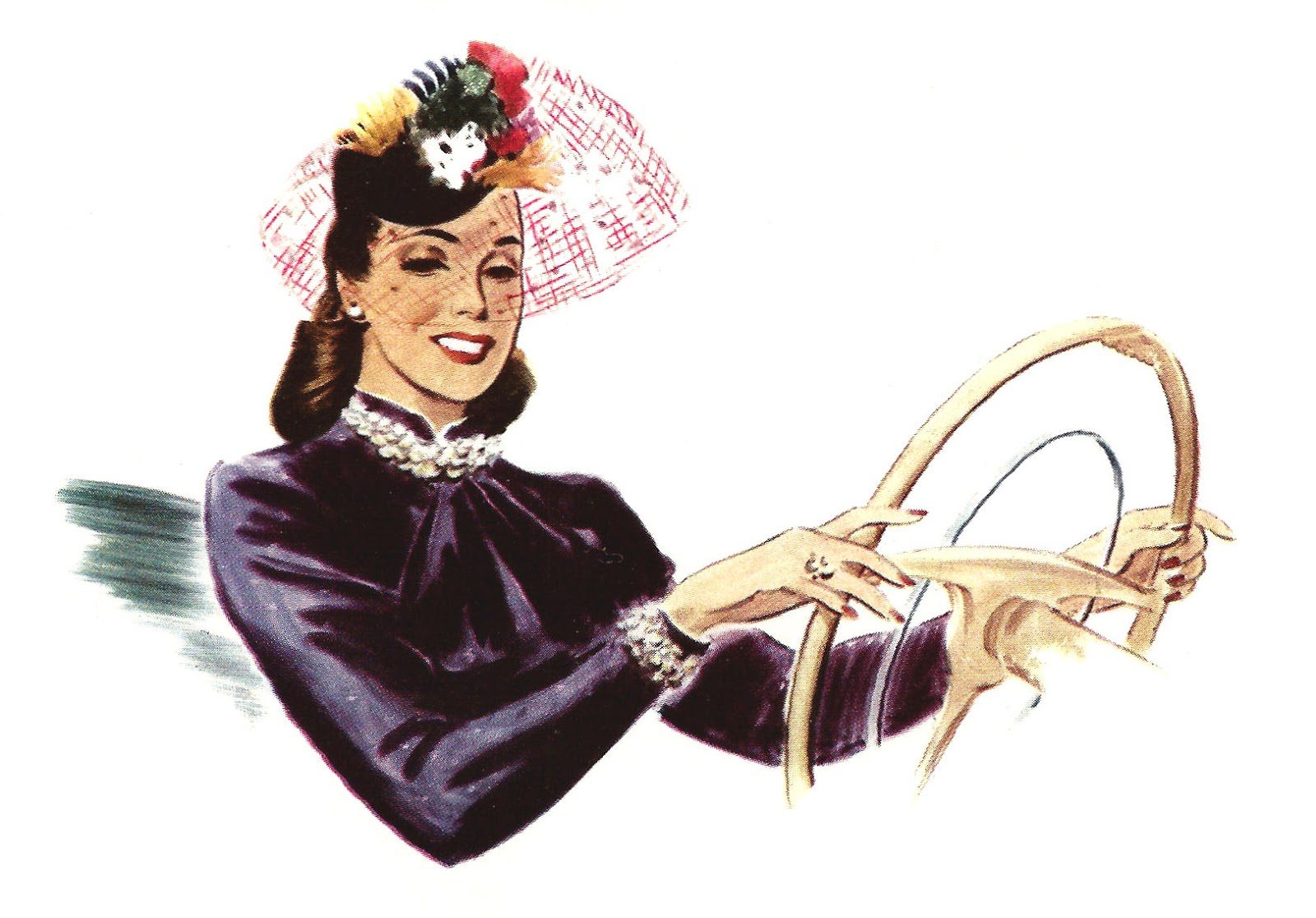 vintage lady clipart - photo #38