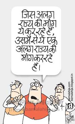 Telangana, indian political cartoon