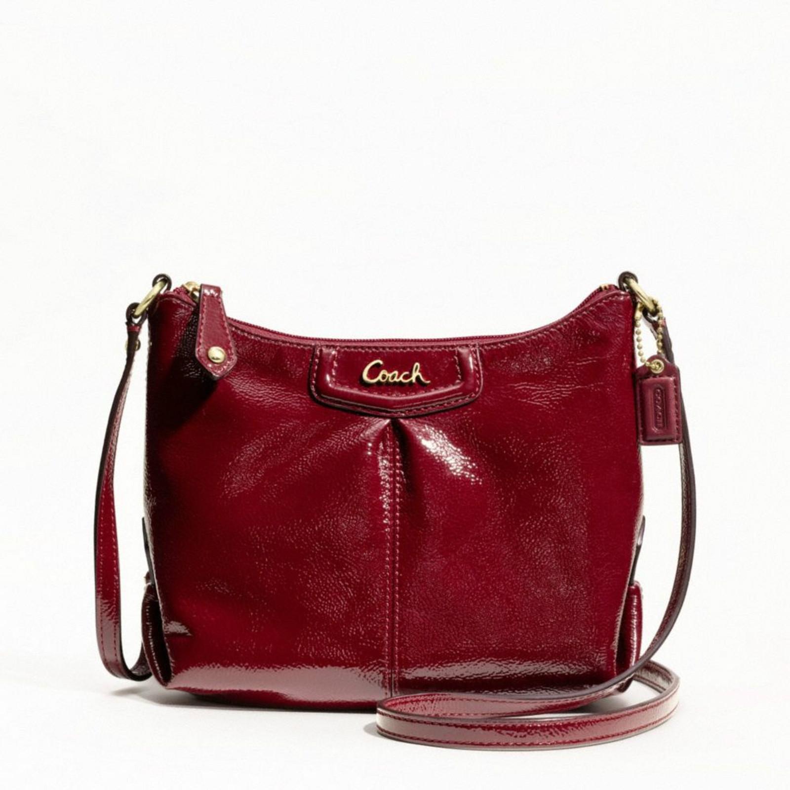 ce38eb28bf592 ... purchase coach ashley crimson patent leather swingpack crossbody 48252  8c59f 30955