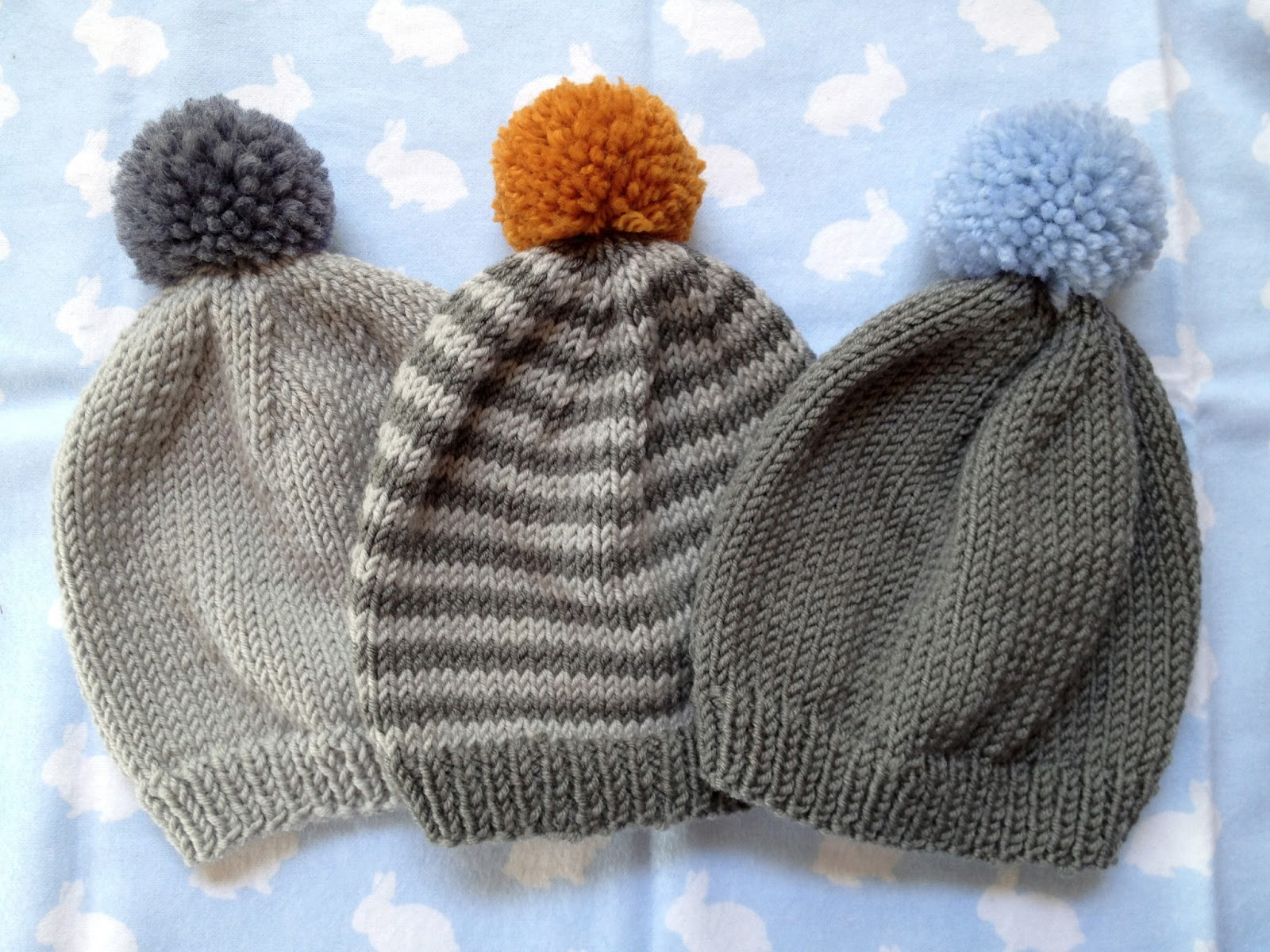 Knitting Pattern Beanie For Baby : never odd : Knit a baby beanie