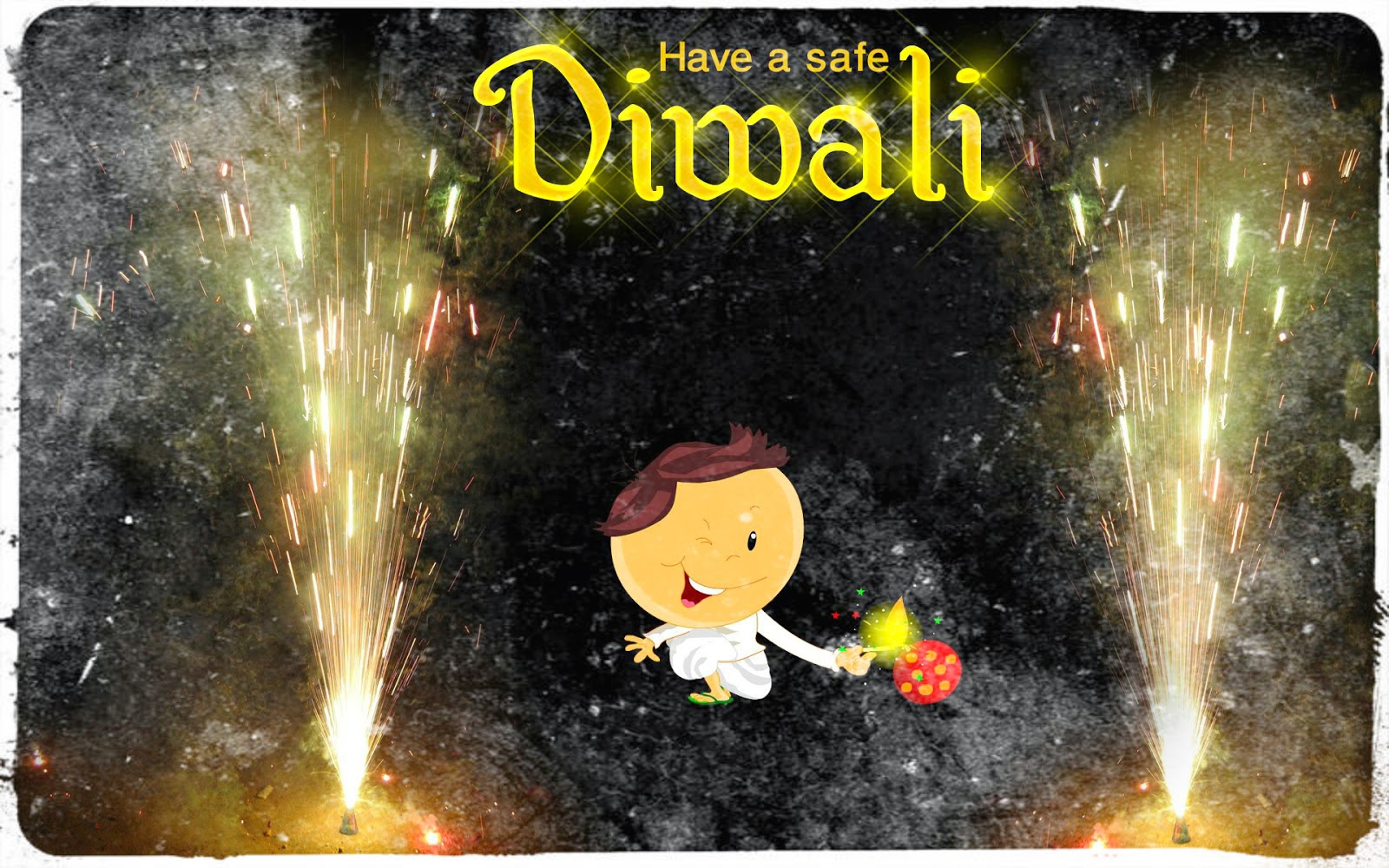 Khushi For Life Funny Deepavali Hd Cards Diwali Cartoon Greetings