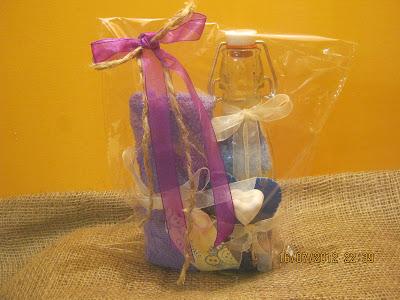 idee regalo con sali profumati e salviette di spugna - towel - feltro - gessi profumati