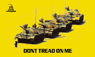 Tea Party tiananmen square Tank Man Full Color