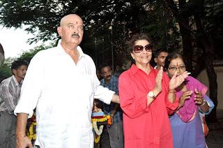 Hrithik and Rakesh Roshan Ganpati visarjan