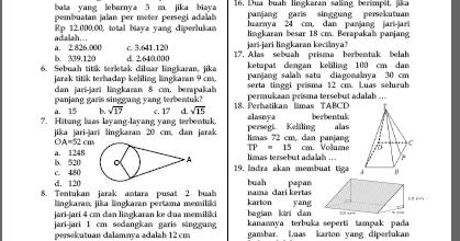 Kampo3ng Math Soal Ulangan Matematika Kelas 8 Semester 2