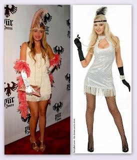 20s Flapper Velvet Sequin Dress (White) Adult Plus Costume