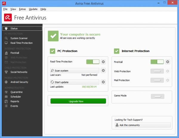 I migliori Antivirus gratuiti per Windows del 2015