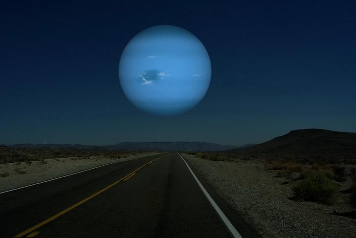 Neptuno en lugar de la Luna