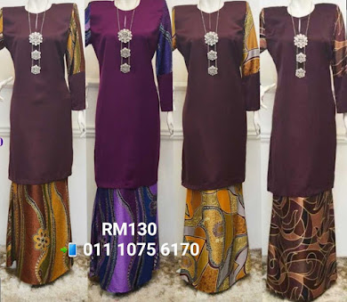 BAJU KURUNG SEROJA MERMAID EKSKLUSIF