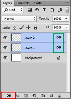 Photoshop CC شرح طريقة الربط وإلغاء الربط بين الطبقات
