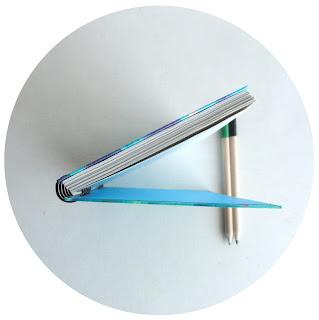 Blue notebook A6. Handbound notebook. Handpainted notebook. Blue Stationery