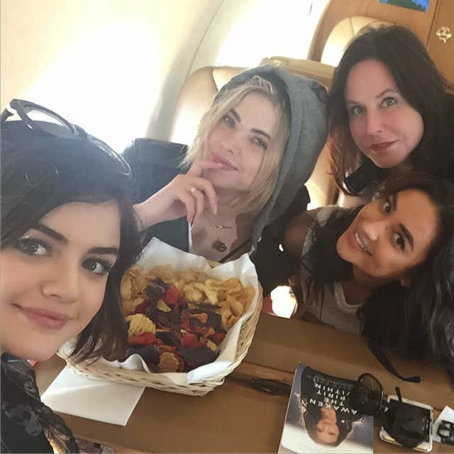 PLL Stars Lucy Hale, Ashley Benson, Shay Mitchell, Marlene King