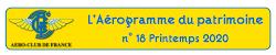 Aérogramme du Patrimoine - N° 18