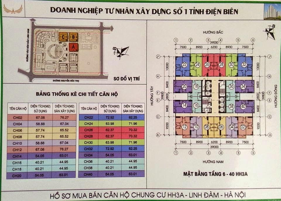 Thiết kế mặt bằng chung cư HH3 Linh Đàm