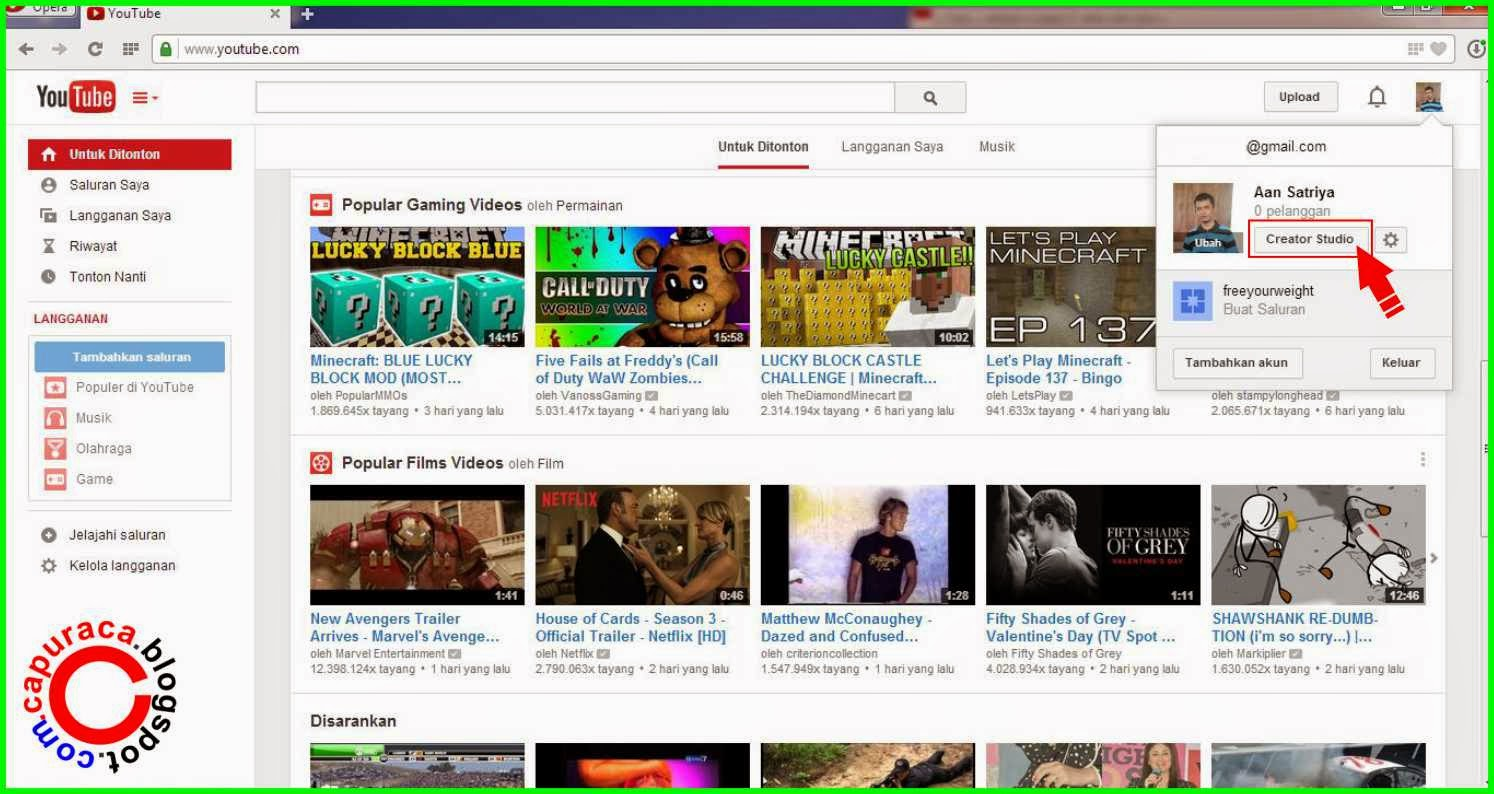 Cara memasang watermark video youtube tanpa software
