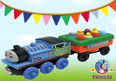 Learning Curve Thomas and Friends Wooden Railway Thomas Easter egg little chicks toy car train set