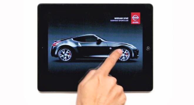 Anuncio antiarañazos de Nissan para iPad