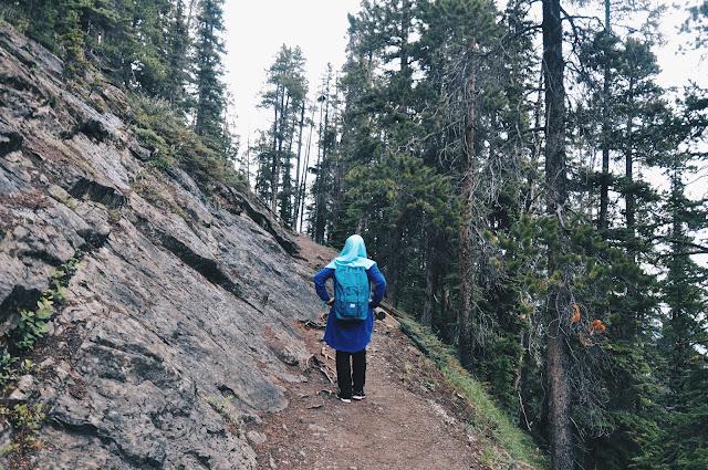 On the way to Sulphur Mountain