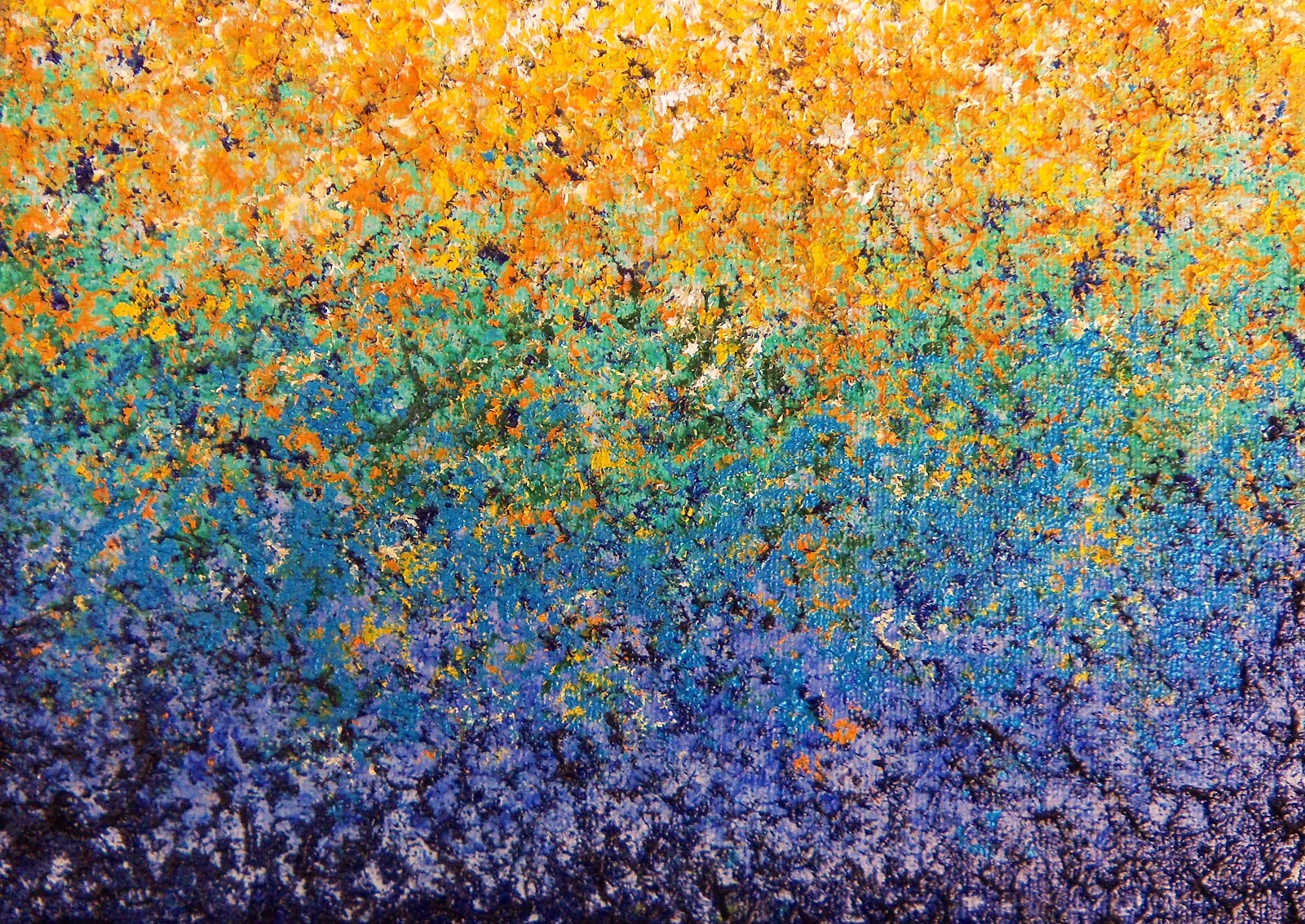 Impressionist Oil Painting, Abstract Garden Art Impasto Painting, Rainbow  Art, Colorful Painting, 5 X 7