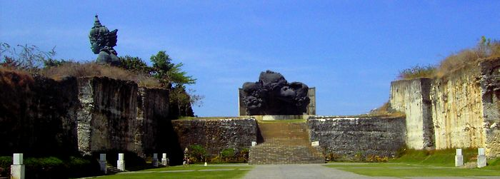 Garuda Wisnu Kencana statue visible from afar