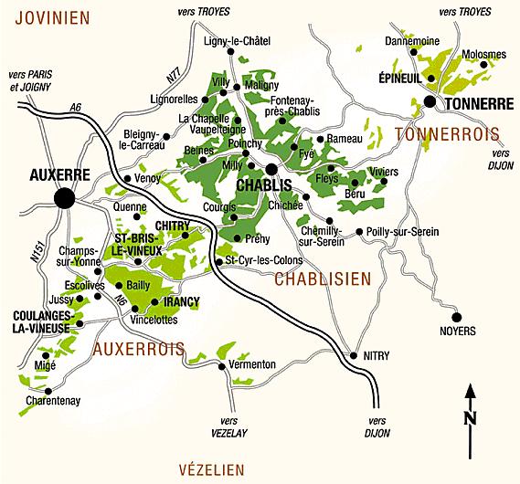 Urbina vinos blog vi edos de yonne chablis c te d for Region yonne