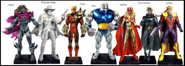 <b>Wave 31</b>: Kaine, Phantom Rider, Fixer, Box, Spitfire, The Uranian and Cortez