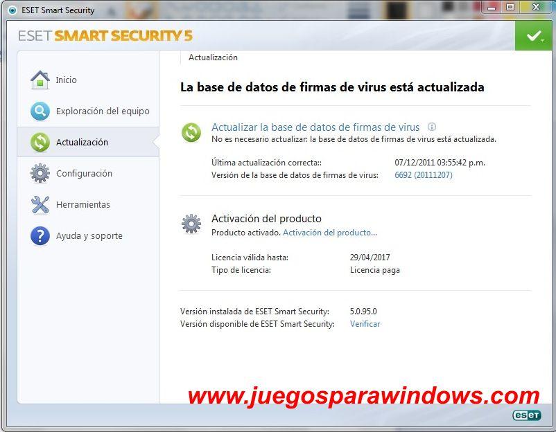 Eset Smart Security 5 NOD 32 Antivirus screenshot