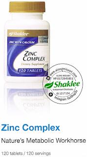 Zinc Complex untuk Kesihatan..Jangan main-main..