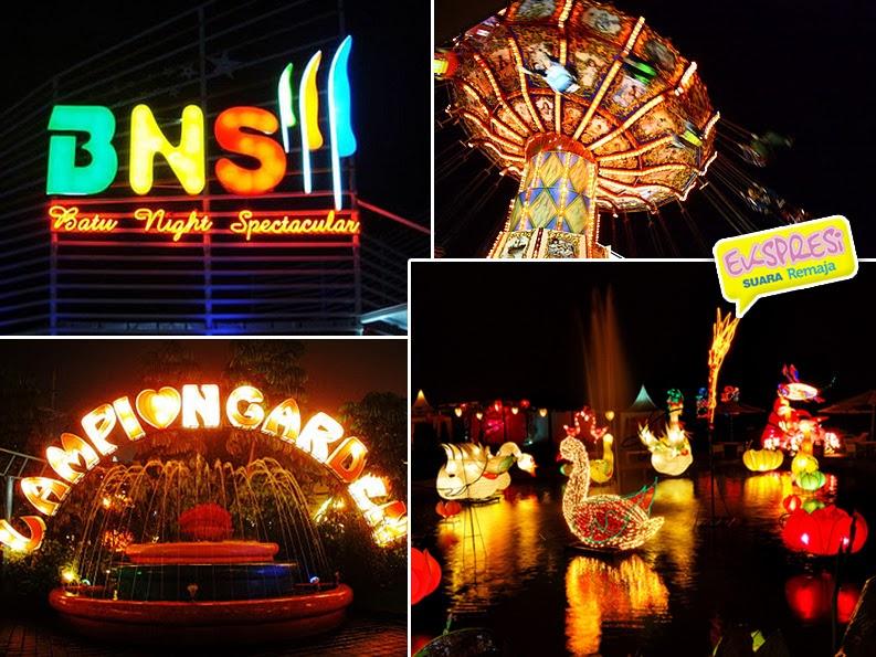 Tempat Wisata Malang Batu  - Batu Night Spektaculer (BNS)