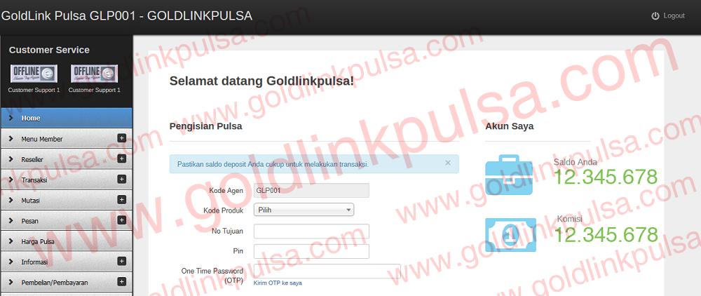 webreport pulsa murah