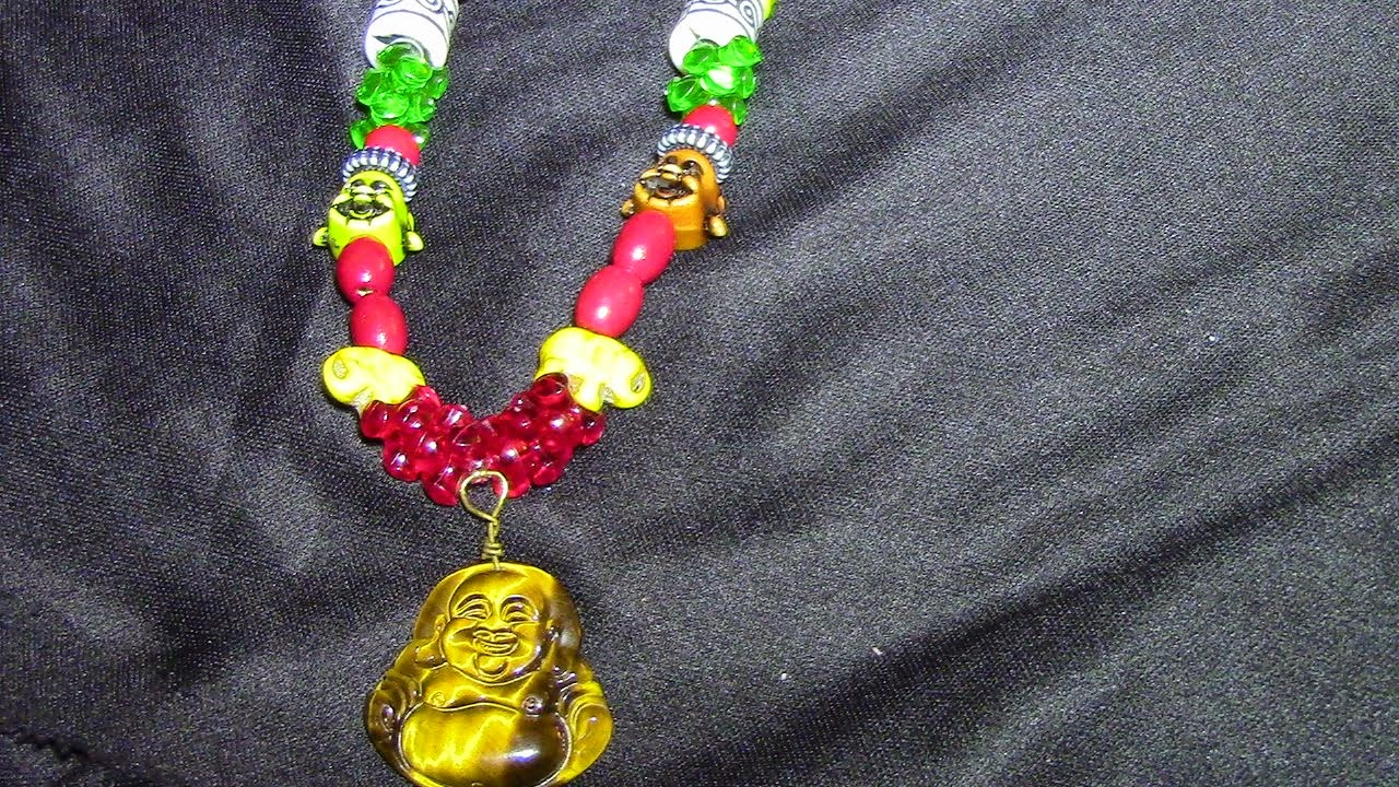 Tiger's Eye Buddha Necklace