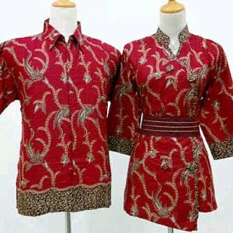 Baju Batik Nasional Merah Putih Sarimbit