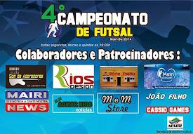 Nosso blog apoia 4° Campeonato de Futsal em Mairi.