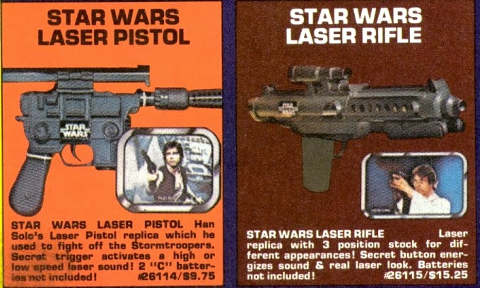 Star Wars Toy Guns : The march of twelve backs kenner quot star wars laser