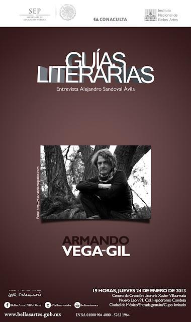 Guías Literarias con Armando Vega-Gil en el CCL Xavier Villaurrutia