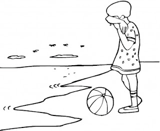 beach coloring pages, girl coloring pages