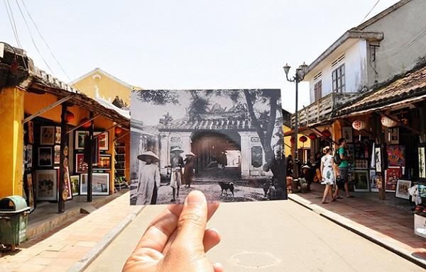 fotógrafo sobrepõe fotos do Vietnã