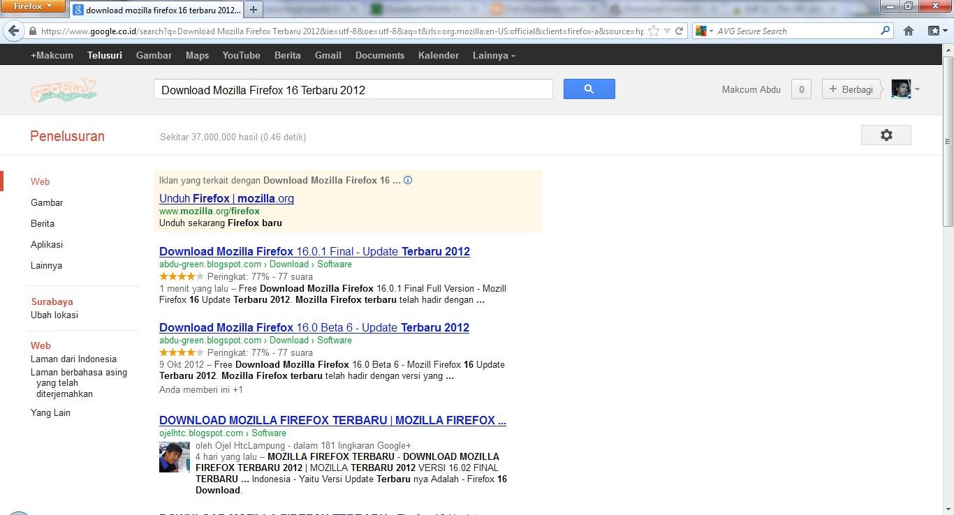 User Experience Para Perangkat Tambahan Untuk Mozilla Firefox Yang