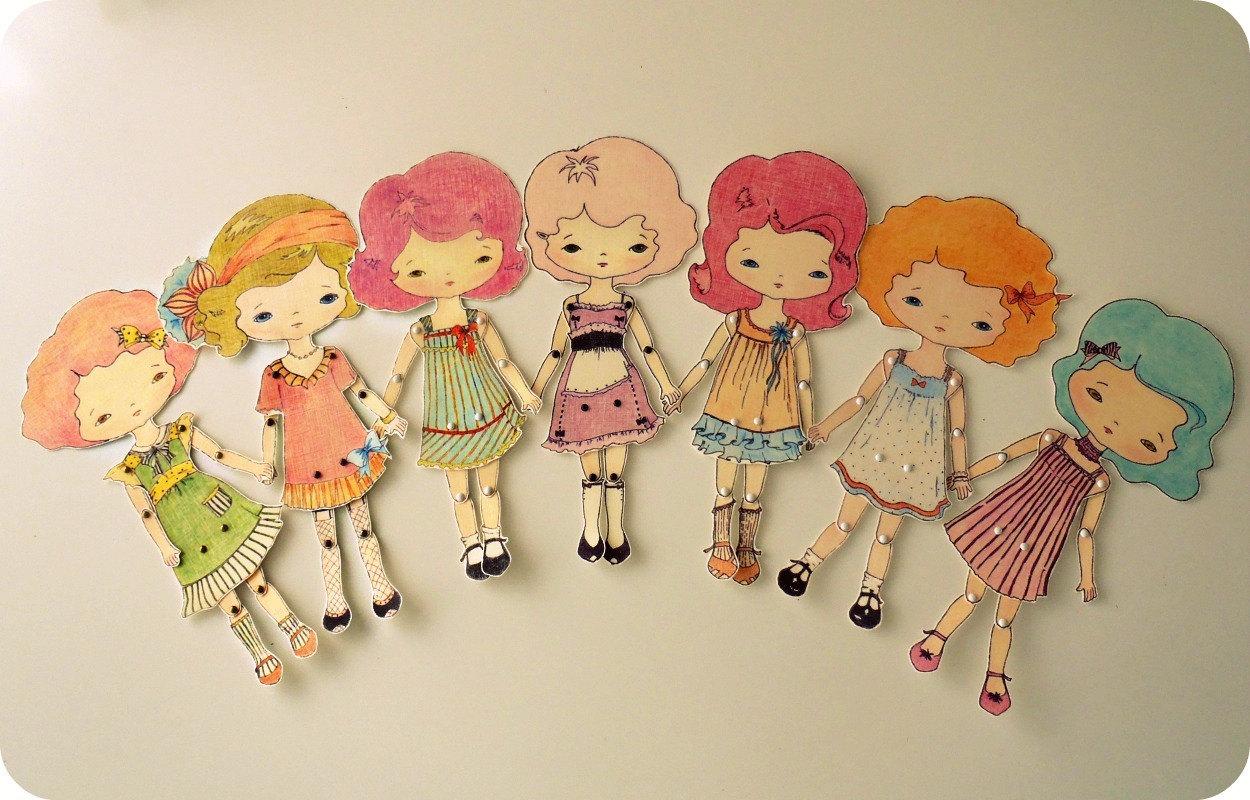 Как сделать куклы из бумаги своими руками