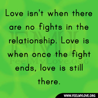 Love isn't when there are no fights