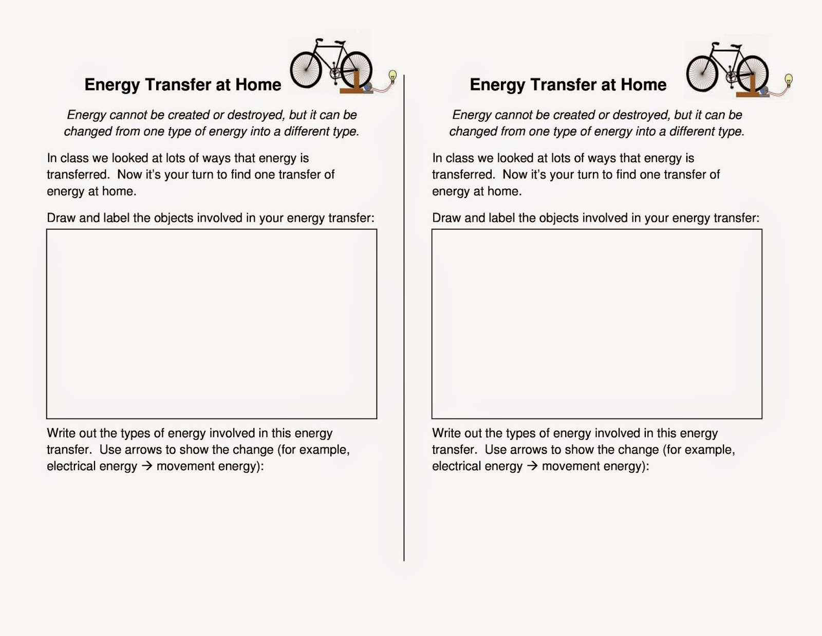 Worksheets Energy Transfer Worksheet homeschool adventures in engineering september 2014 here is a copy of the energy transfer homework just case your student misplaced worksheet