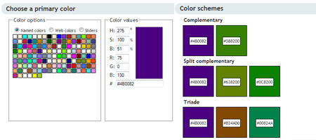 40+ Online Color Tools - Pickers, Schemes & Palettes