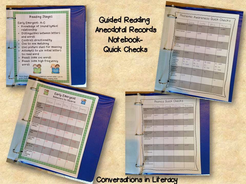 using anecdotal records notebook to drive instruction and stay organized