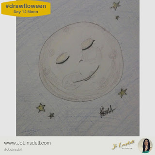 #Drawlloween Day 12 Moon #Drawing #challenge